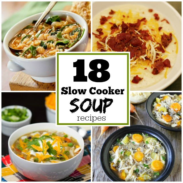 18 Slow Cooker Soup Recipes #momspotted