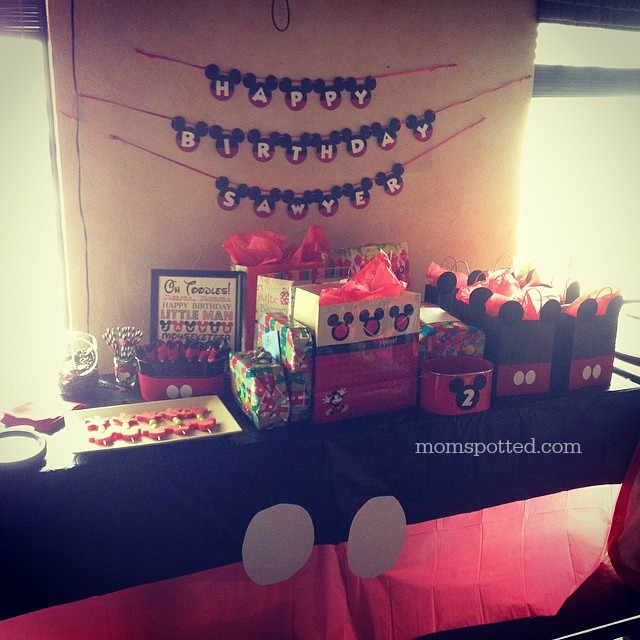 Sawyers Red Black & White Mickey Mouse Birthday Party
