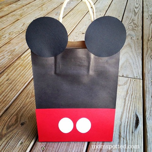 Black White & Red Mickey & Minnie Mouse DIY Birthday Goody Party Bags {Sawyers 2nd Birthday Party} 1 #momspotted