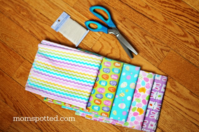 Make A No-Sew Fabric Garland {Easter Themed} Supplies Needed