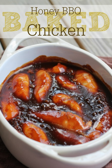 Honey BBQ Baked Chicken Recipe Momspotted.com #momspotted