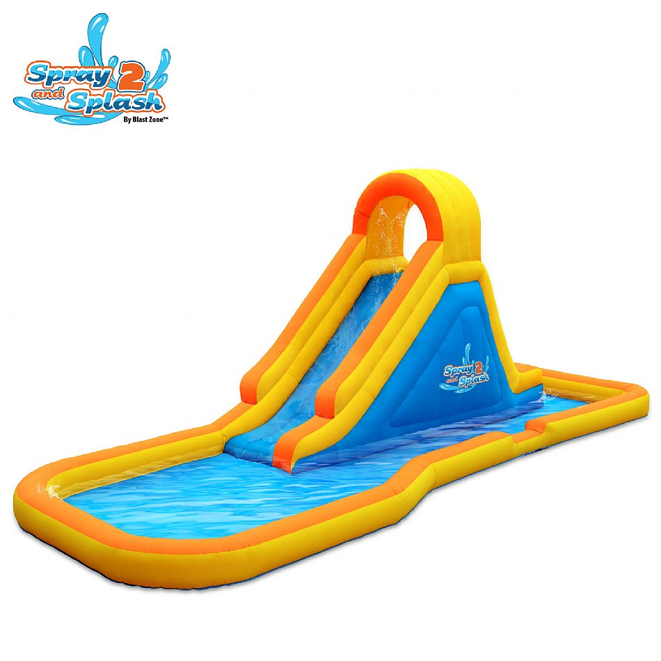 Inflatable Water Slide Safety Rules: Blast Zone Spray-n-Splash 2 Inflatable Water Park {Review