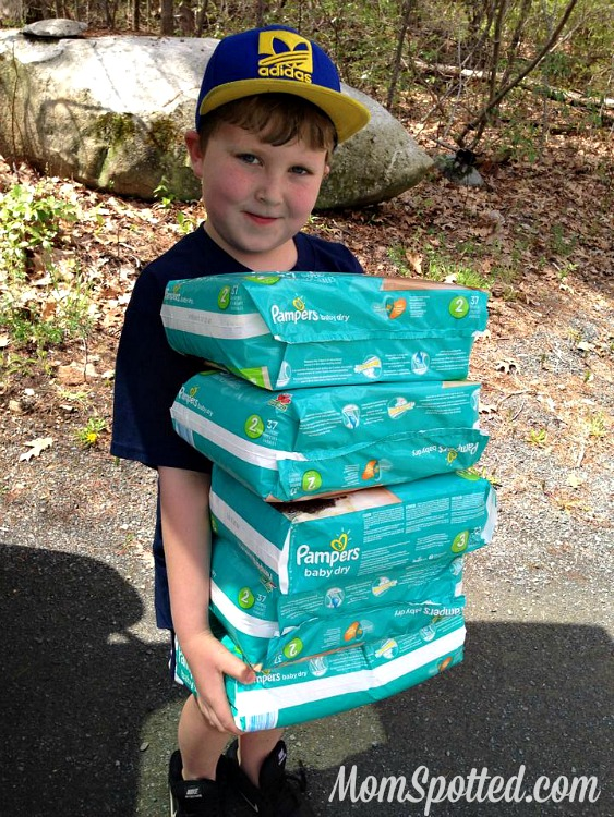 Pampers Gavin Diaper Donation