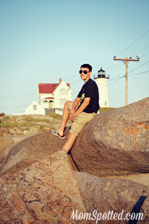 Johnny at Nubble Lighthouse in Maine