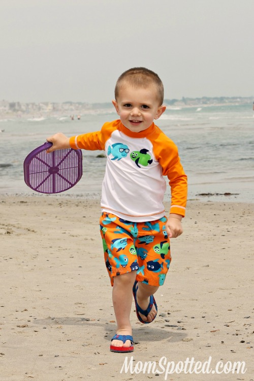 Sawyer James on Well Beach in Maine.
