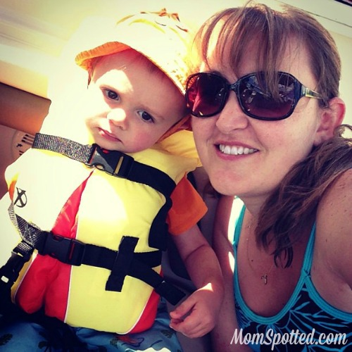 MomSpotted & Sawyer James on Boat