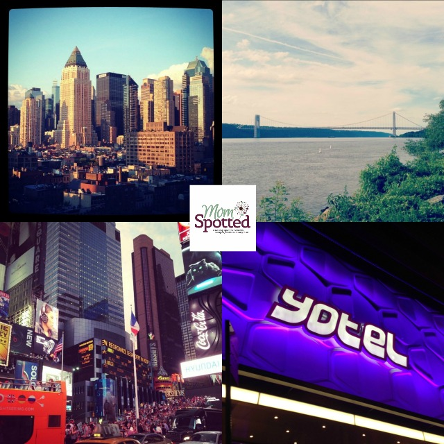 Stay & #Travel in NYC Collage Yotel Hotel George washington Bridge Times Square momspotted.com