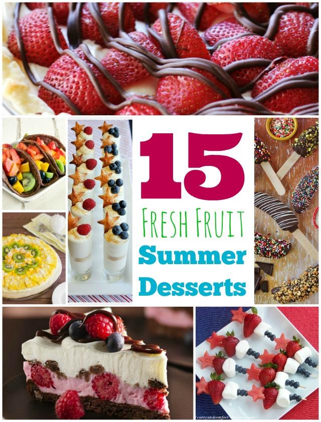 15 Fresh Fruit Summer Desserts