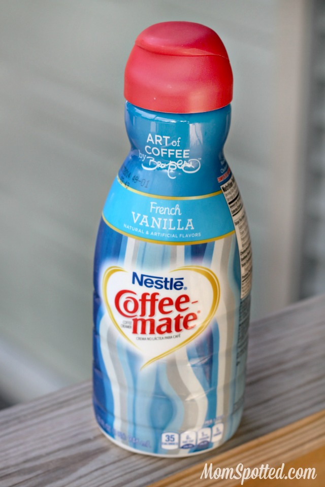 Coffee-mate's newly designed bottles by David Bromstad Hazelnut & French Vanilla flavors