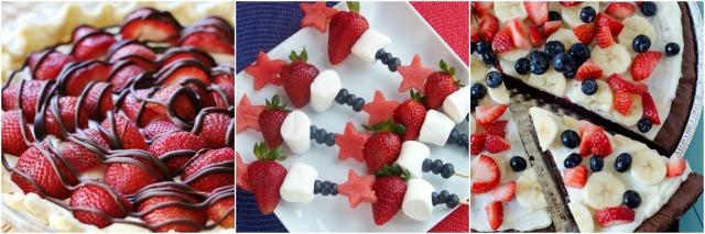 Fresh Strawberry Summer Desserts Collage