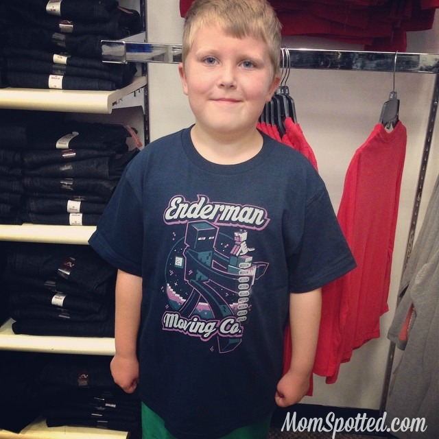 Gavin wearing Minecraft Enderman shirt at  JCPenney  #ThatsMyKid