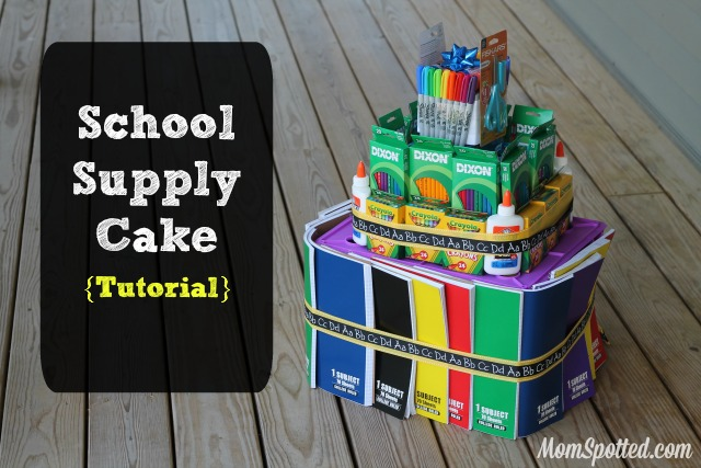 School Supply Cake Tutorial on MomSpotted.com