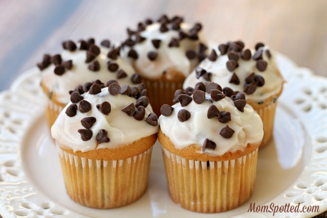 Chocolate Chip Frosted Cupcakes
