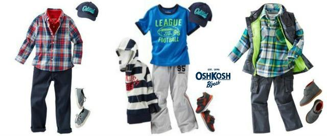 Boys OshKosh Back to school clothing