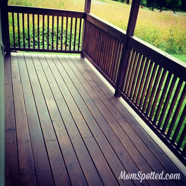 our front deck porch