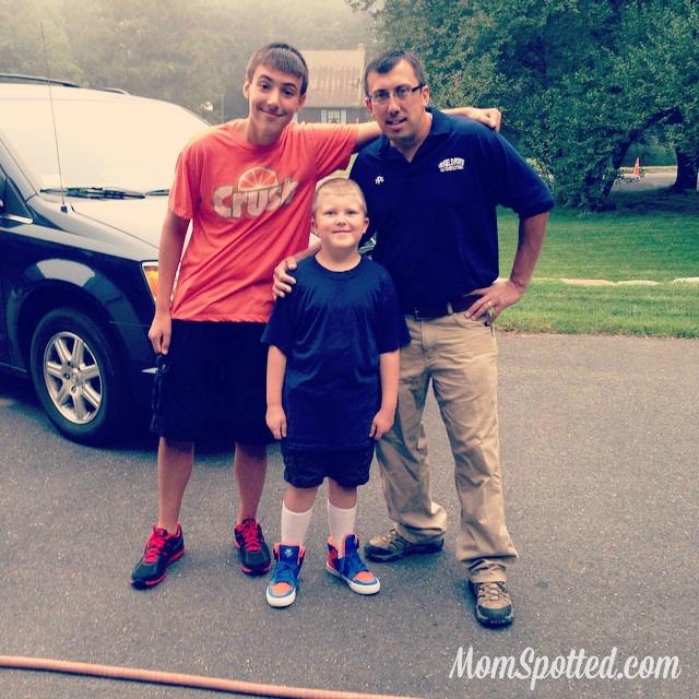 First day of school with dad gavin johnny