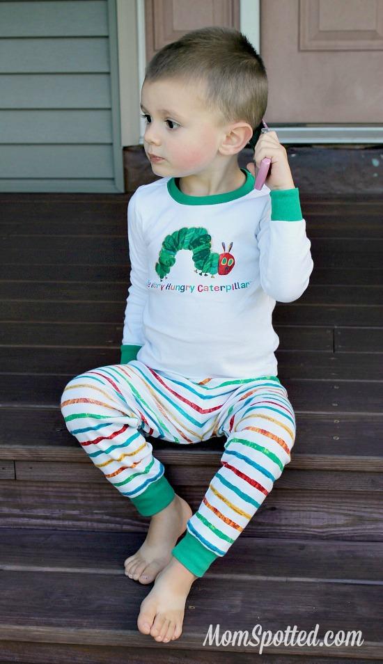 Gymboree Eric Carle Hungry little Caterpillar Pajamas #SawyerJames