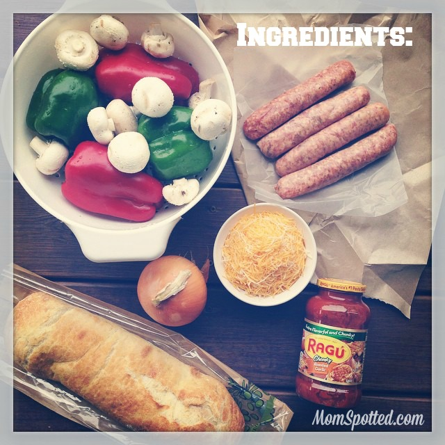 Game Day Sausage Grinders {20 Minute Dinner Recipe with Ragu} #NewTraDish