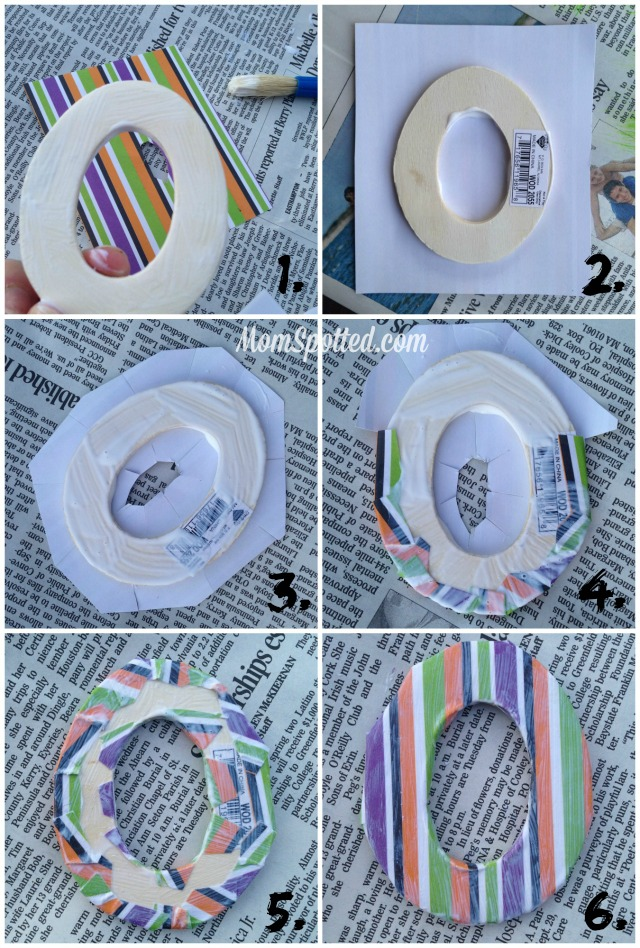 Decoupage Modge Podge Wooden Letters with Paper Tutorial #FunCraftsWithMom momspotted.com