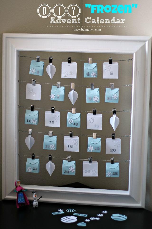 Disney's Frozen Advent Calendar {A Silhouette Craft}
