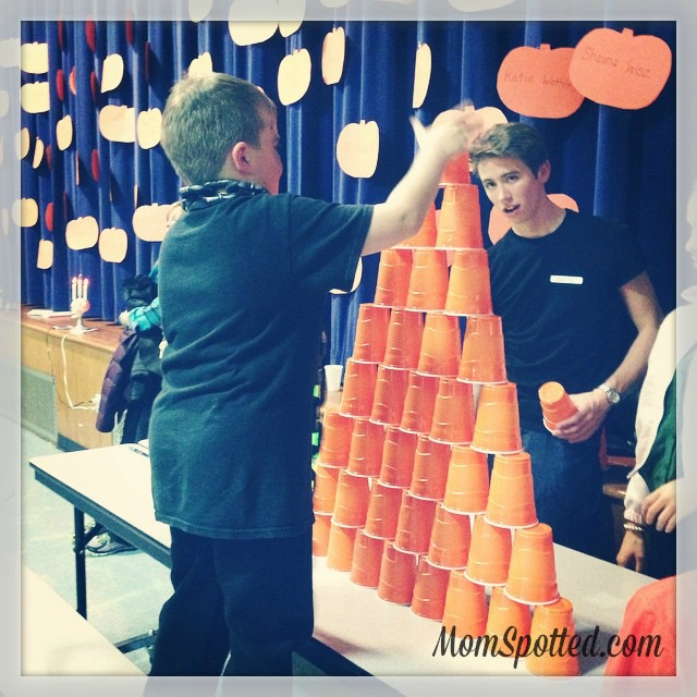 2014 Halloween School Party Gavin Stacking Cup Game