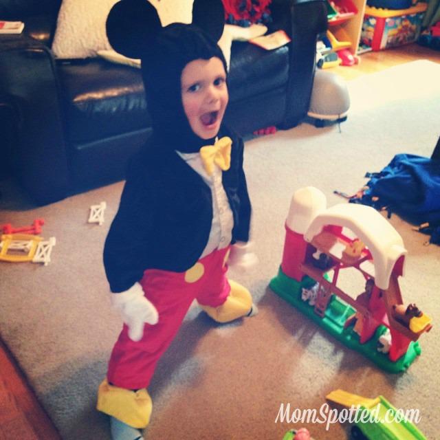 Sawyer 2014 Halloween Mickey Mouse Costume