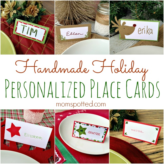 Personalized Handmade Holiday Place Cards