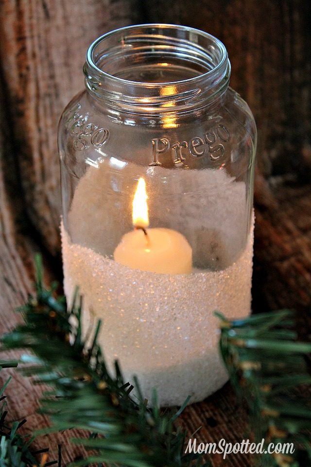 How to Make Easy Decorative Snow Candles {Plus, DIY Mason Jar Snow Kissed Candle Holders} #FunCraftsWithMom