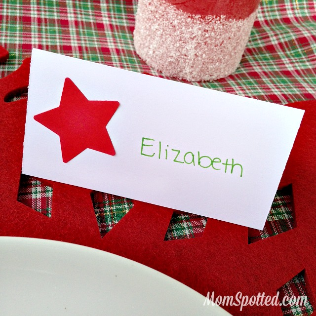 Classic Star Personalized Handmade Holiday Place Cards found on momspotted.com