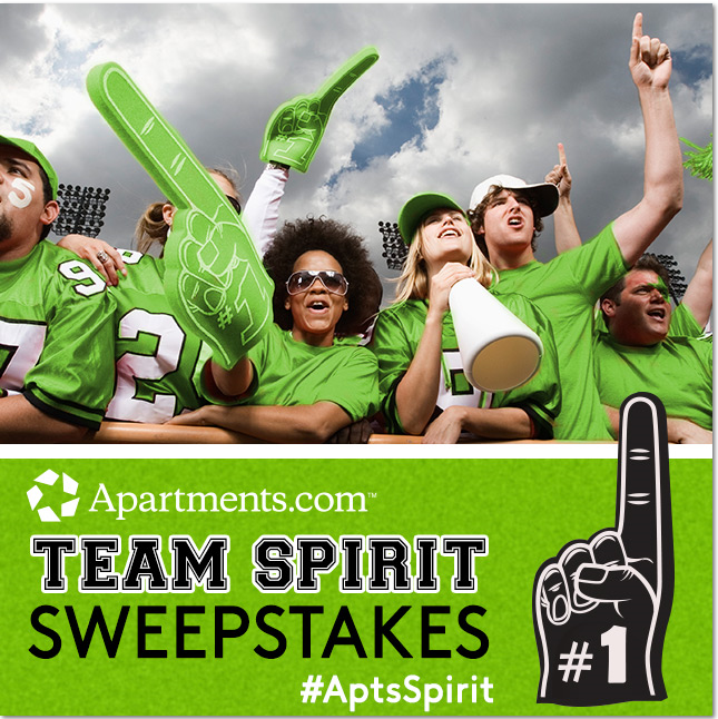 Apartments.com Team Spirit Sweepstakes {$1,000 Gift Card Giveaway}