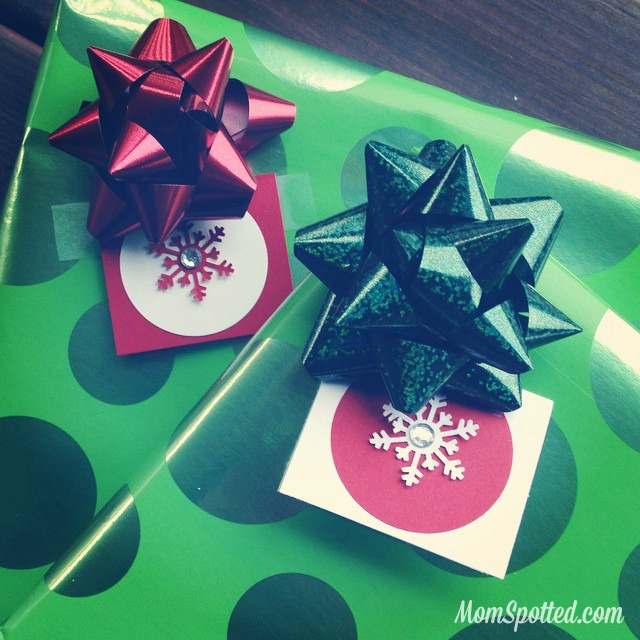 Easy DIY Snowflake Rhinestone Gift Tags