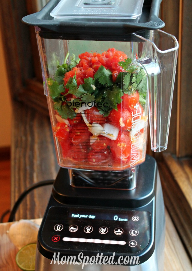 Homemade Organic Salsa Recipe found on momspotted.com
