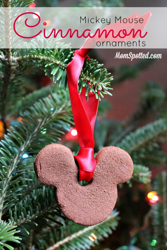 Mickey Mouse Cinnamon Ornament Tutorial on momspotted