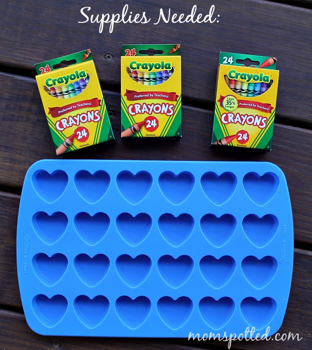Make Your Own Heart Shaped Crayons Tutorial Supplies Needed