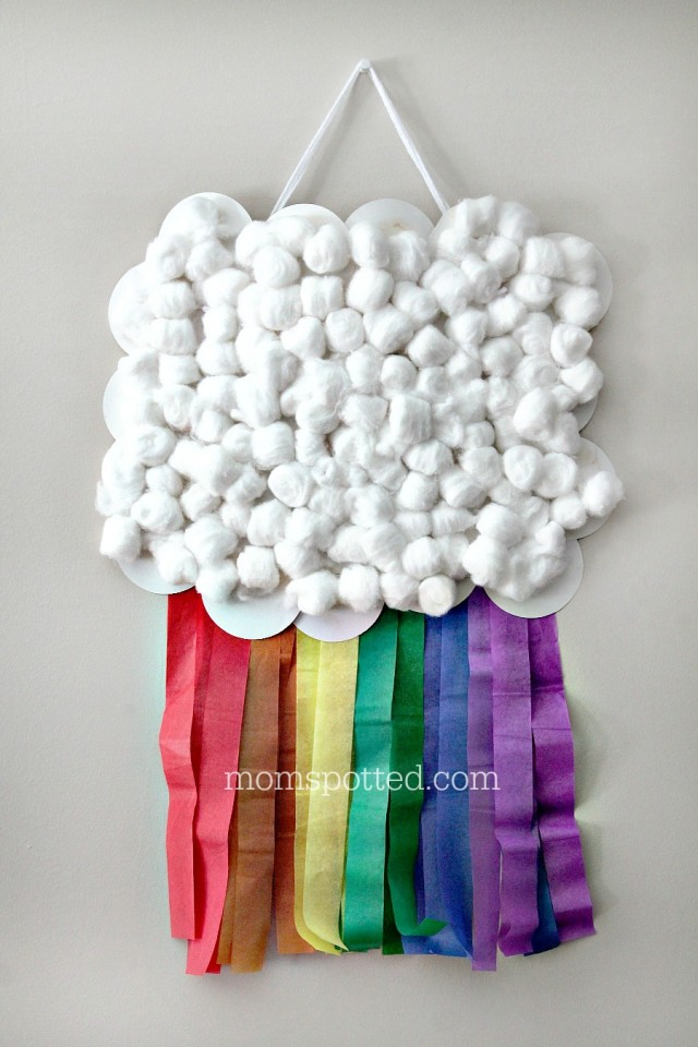 DIY Rainbow Cloud Wall Flag