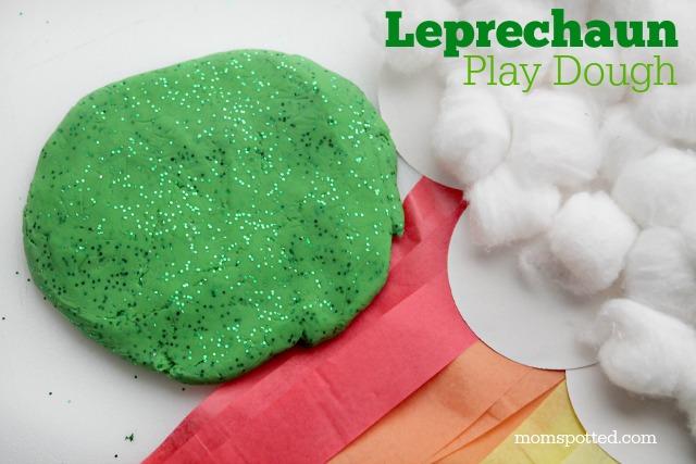 Homemade St. Patrick's Day Leprechaun Gold Play Dough