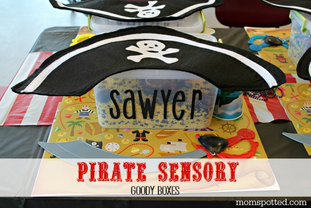 Pirate Treasure Box Sensory Kit Goody Boxes for Pirate Party