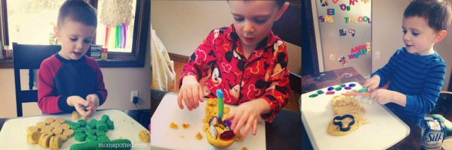 The BEST Easy No Cook Play Dough! Sawyer playing