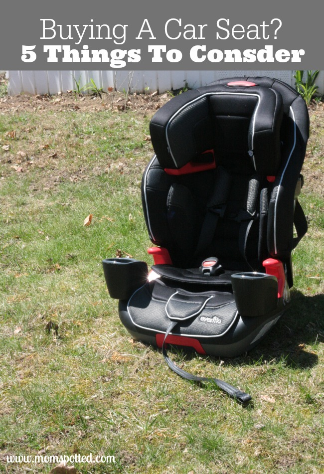 Buying a car seat can be really overwhelming. Here are 5 things you absolutely must consider when making such a big purchase!