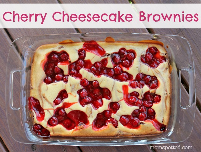 Cherry Cheesecake Brownies momspotted