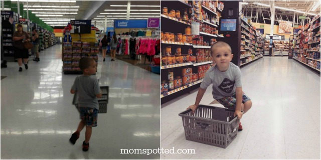 Sawyer loves Walmart Collage