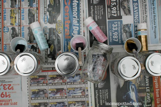 Mason jars and martha stewart paints