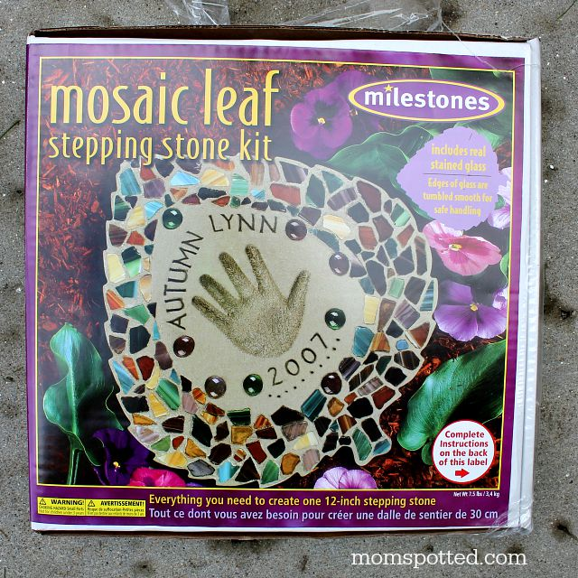 garden stepping stone crafts supplies mosaid leaf kit