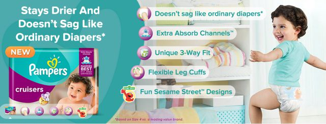 Pampers Cruisers Extra Absorb Channels