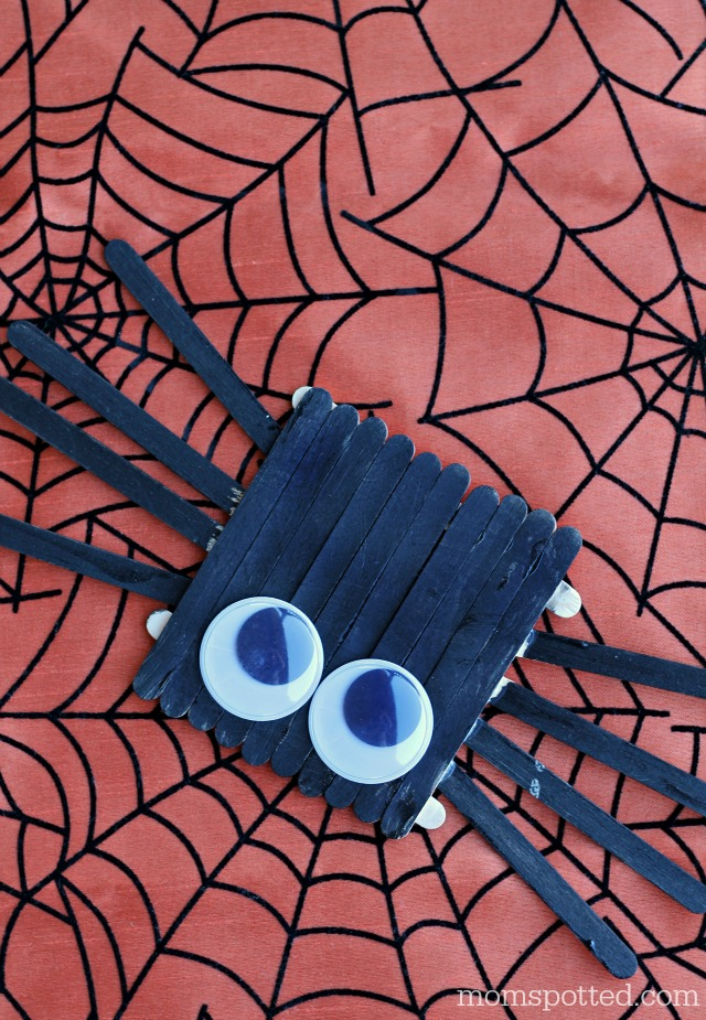 Halloween Spider Popsicle Stick Craft for Kids