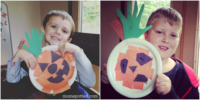 Halloween Jack-O-Lantern Paper Plate Pumpkins {Fun Crafts with Mom}