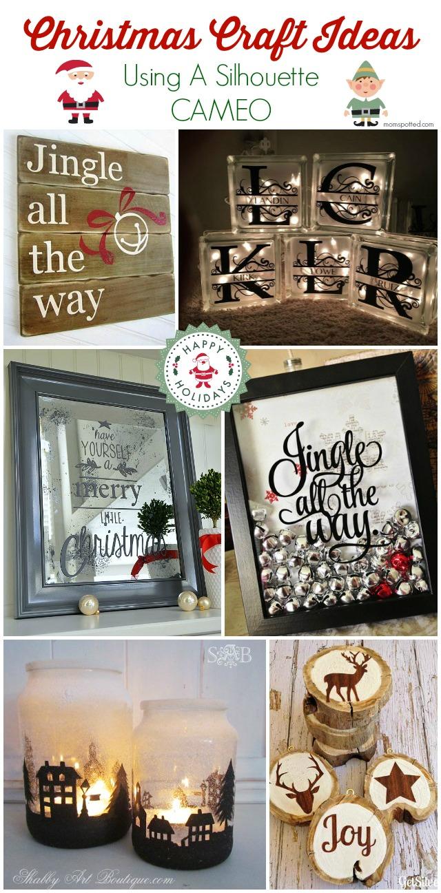 Christmas Craft Ideas Using A Silhouette CAMEO