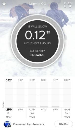 SnowCast app