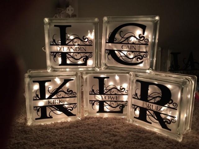 decorative lighted glass blocks