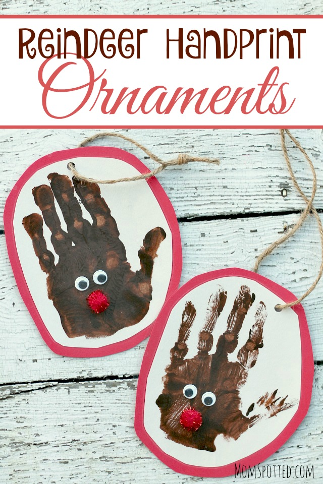 Reindeer Handprint Ornaments MS